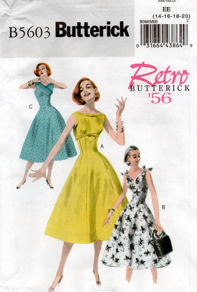 butterick 5603 repro 50s dress
