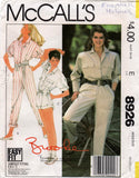 McCall's 8926 80s brooke shields jumpsuits
