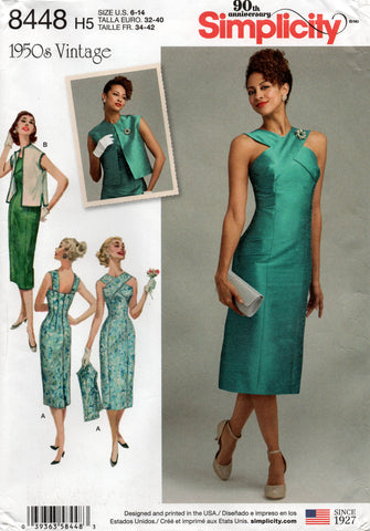 simplicity 8448 reissue dress and vest