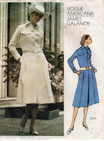 vogue 2504 james galanos dress 70s