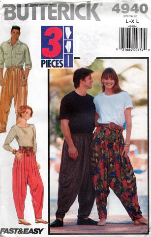 Butterick 4940 90s mc hammer pants