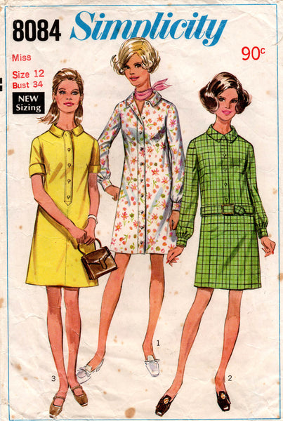 simplicity 8084 60s shirtdress