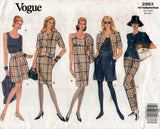 Vogue 2883 Womens Jacket Dress Top Shorts & Pants 1990s Vintage Sewing Pattern Size 6- 10