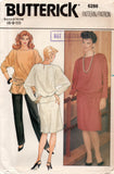 butterick 6286 80s dress top and pants