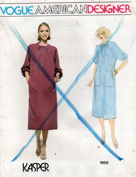 vogue 1955 80s kasper dress