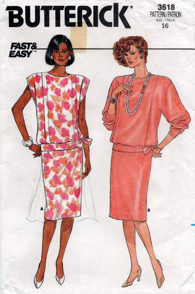 butterick 3618 80s top and skirt