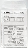 Burda 7543 Evening Clutch Purses Out Of Print Sewing Pattern UNCUT Factory Folds
