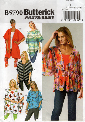 butterick 5790 cover ups oop