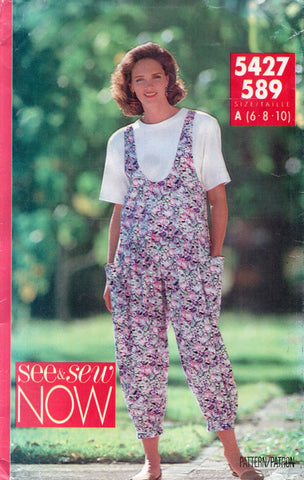 butterick see and sew 5427 90s jumpsuit and top
