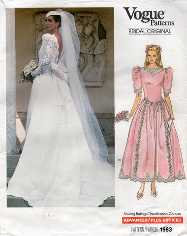 vogue 1983 80s wedding dress