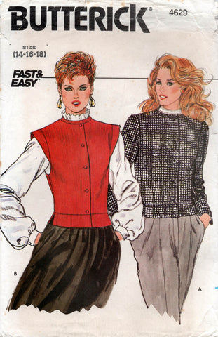 Butterick 4629 80s vest and jacket
