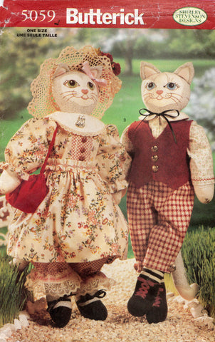 butterick 5059 edwardian cat toys