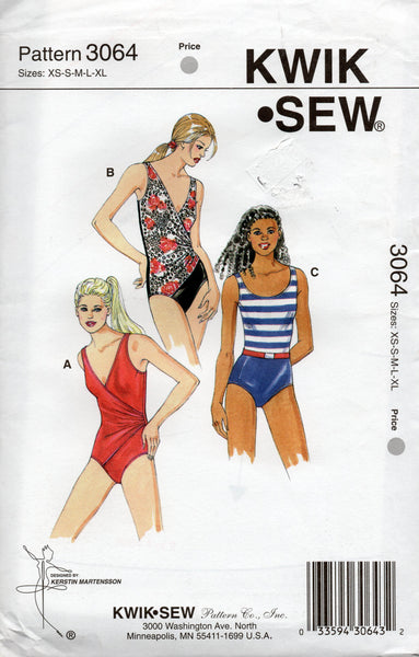 Kwik Sew 3064 oop swimsuits