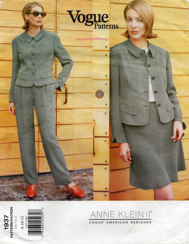 vogue 1937 anne klein ii suit