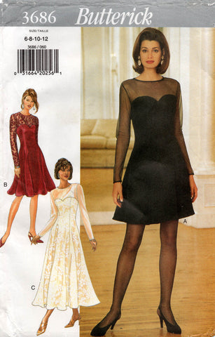 Butterick 3686 90s dress