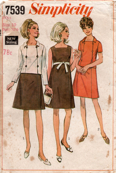 simplicity 7539 60s dress and jacket.