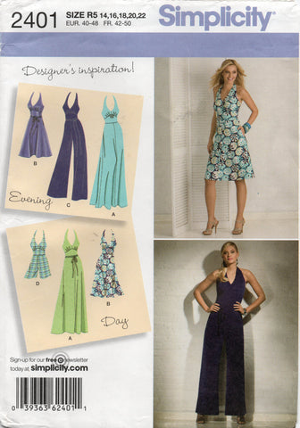 simplicity 2401 oop dress and jumpsuit
