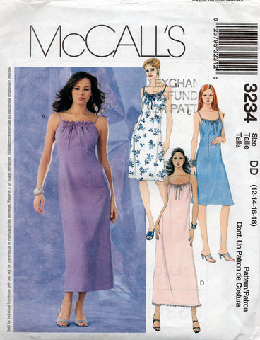 Mccall's 3234 pillowcase dress oop