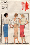 style 4566 80 s straight skirts
