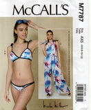 McCall's M7787 Womens NICOLE MILLER Bikini & Jumpsuit Sewing Pattern Size 4 - 12 or 12 - 20 Factory Folds