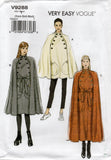 Vogue 9288 Womens EASY Button Trimmed Cape & Belt Sewing Pattern Sizes XS S M, L XL XXL UNCUT Factory Folded
