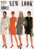New Look 6553 Womens Princess Dress & Cropped Jacket 90s Vintage Sewing Pattern Size 8 - 18 UNCUT Factory Folds