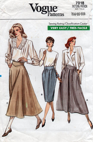 vogue 7018 80s skirts