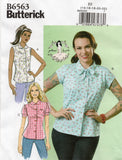 Butterick 6563 Womens GERTIE'S Retro Blouses Sewing Pattern Size 6 - 14 or 14 - 22 UNCUT Factory Folded