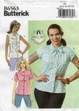 butterick 6563 gertie's blouses