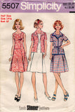 simplicity 5507 70s dress and jacket
