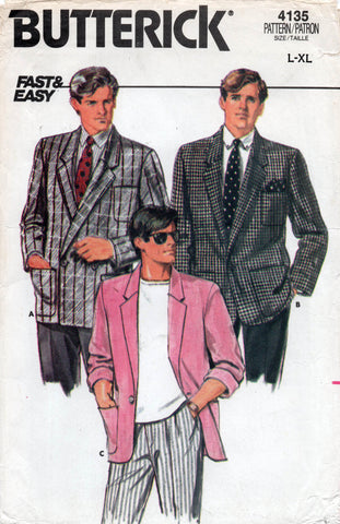 butterick 4135 80s mens jacket