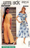 butterick 3914 80s dress and jumpsuit