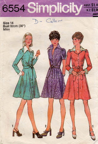 simplicity 6554 70s shirtdress