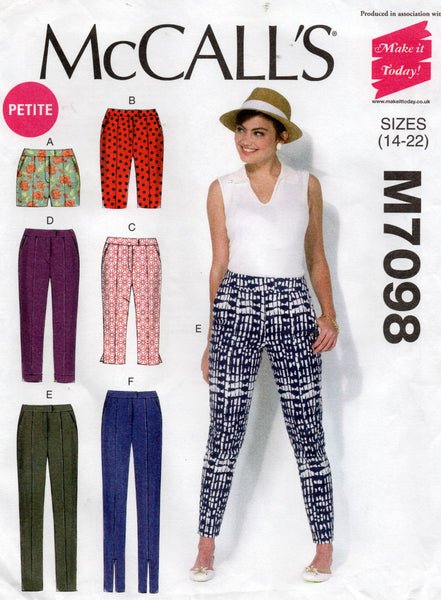 Mccall's 7098 oop pants shorts