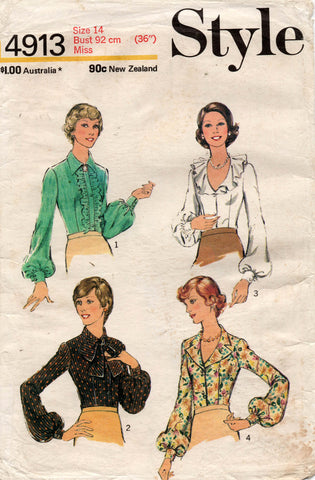 style 4913 70s blouses