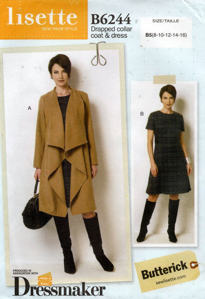 butterick 6244 dress and coat