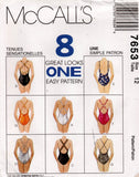 mccall's 7653 90s swimsuits