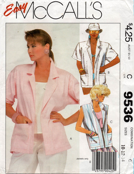 McCall's 9536 80s summer jackets