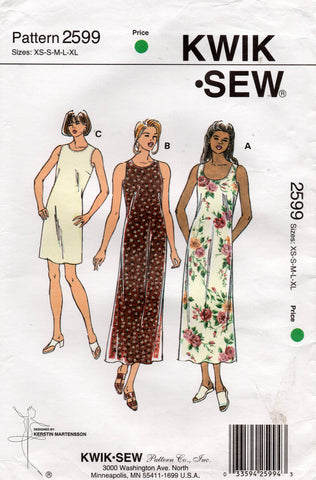 kwik sew 2599 90s dress