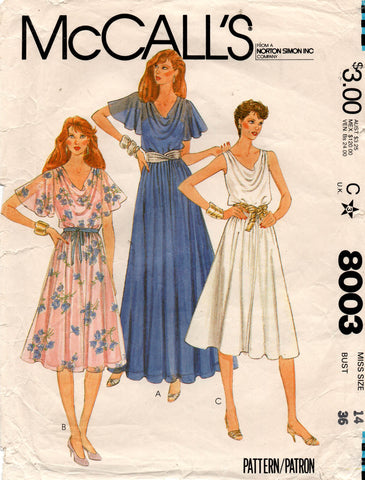 MCall's 8003 80s dress and slip