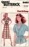 butterick 6463 70s dress and top