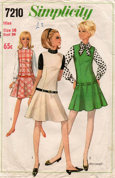 simplicity 7210 60s dress and blouse