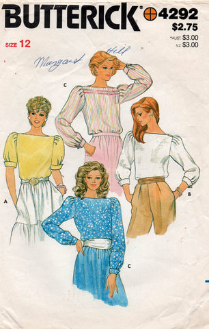 butterick 4292 80s blouses