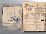 McCall 3823 RARE Womens Dress with Pleated Bodice & Skirt 1940s Vintage Sewing Pattern Bust 36 inches