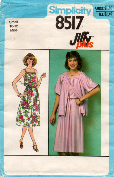simplicity 8517 70s dress and jacket