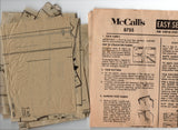 McCall's 8755 Womens Inverted Pleat Tent Dress 1960s Vintage Sewing Pattern Size 12 Bust 32 inches