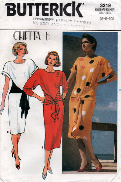 butterick 3219 80s dress