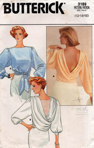 butterick 3189 80s blouse
