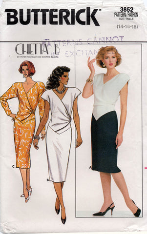 butterick 3852 80s dress