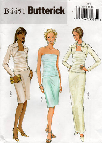 butterick 4451 oop skirt top shrug